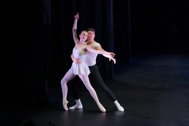 Riley-Jane Dickie & Callum Phipps in 'Concerto Barocco'. Choreography by ©George Balanchine. Photo: Stephen A'Court.