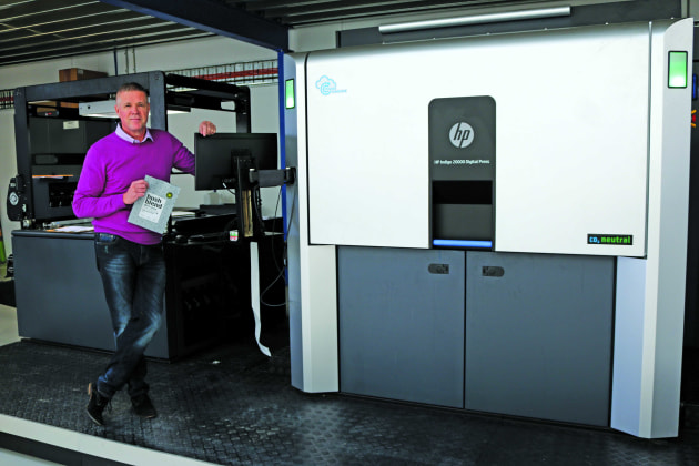 Digital printing pioneer: Ross Read, MD & owner of Read Labels & Packaging, alongside the HP Indigo 20000 Digital Press installed at the company's facility in Ravenhall, Melbourne.