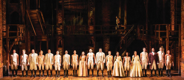 The West End cast of Hamilton. Photo: Helen Maybanks.