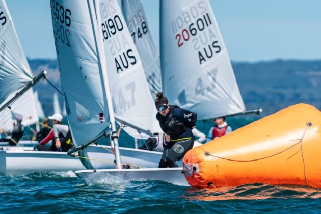 Youth Nationals, Laser 4.7. Photo Beau Outteridge.