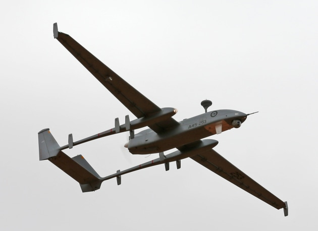 The Heron Remotely Piloted Aircraft (RPA) takes off from RAAF Base Woomera. Defence