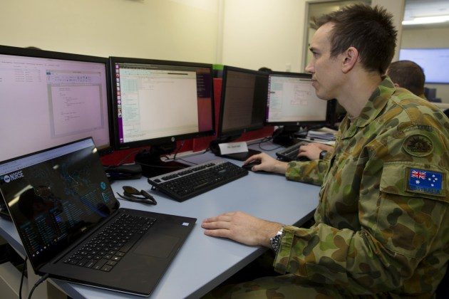Lance Corporal Anthony Neale of the Defence Force School of Signals. Defence