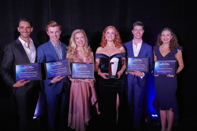 2018 RGE finalists Lyndon Watts, Joel Granger, Ashleigh Rubenach, Annie Aitken (winner), Todd Jacobbson, Courtney Monsma. Photo: Brian Geach.