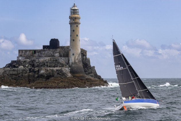 Jean Pierre Kelbert in the 2019 Rolex Fastnet Race. Photo Carlo Borlenghi/Rolex.