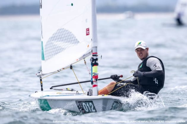 Tom Burton leads the Laser World Championship 2019. Photo Credit: Junichi Hirai /  Bulkhead Magazine Japan.