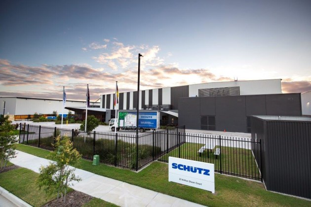 The new Schütz IBC manufacturing and reconditioning facility in Yatala.