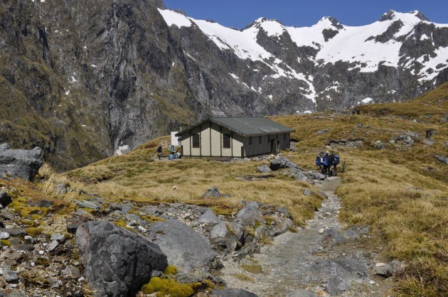 A comfy hut on Mackinnon Pass.