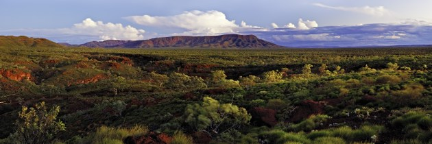 A gorgeous panorama of Karijini NP. Tourism WA.
