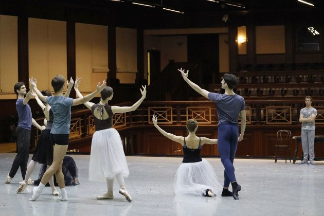Rehearsing 'Jewels'.
