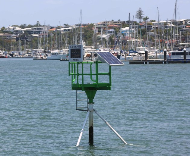 Speed Awareness Monitor at Manly Boat Harbour