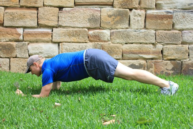 Push-up plank: This exercise is the same as the plank, except that you are in a push-up position. The push-up plank works the core, chest and biceps.