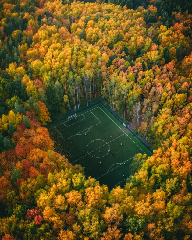 © Yura Borschev. Soccer in the woods, Moscow.