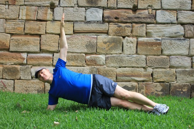 Side plank: The side plank requires a bit more balance but is another great core strength exercise. If you're really keen you can do all three plank exercises to really work your core.