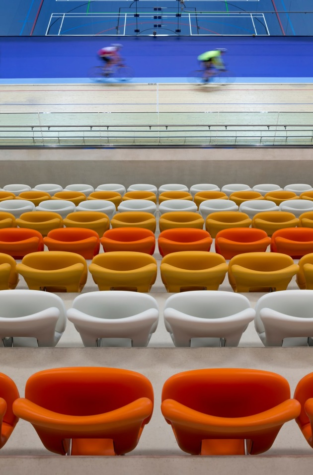 Derby Arena Velodrome, UK – designed by Faulkner Browns Architects. Photograph: Martine Hamilton Knight/arcaidimages.com/Sto