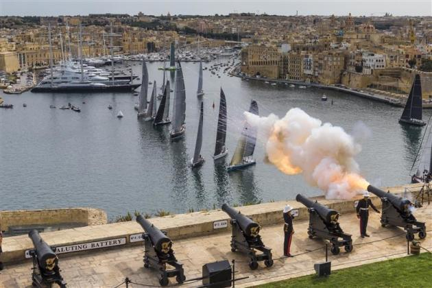 The start of the Middle Sea Race. Photo Rolex/Carlo Borlenghi.