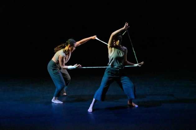 Courtney Lim and Tessa Redman in Scott Ewen's 'Velociraptor'. Photo: Stephen A'Court copy