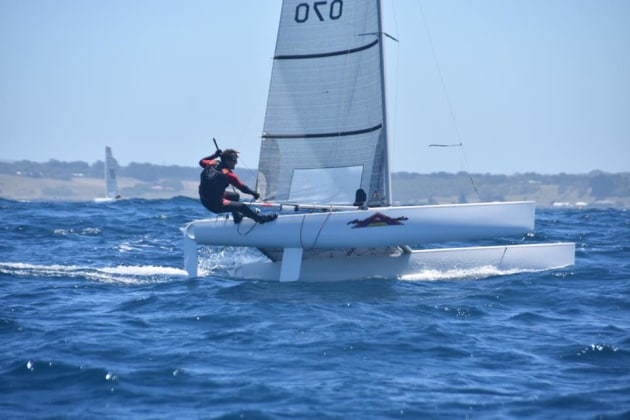 4.9 Cat rigged winner Leigh Hein - Mary Tulip pic