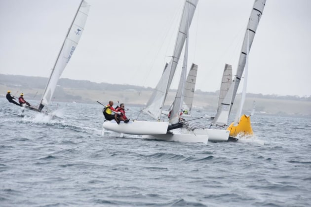 5.7 Cat winners John Newman/Peter Bartlett lead the pack - Mary Tulip pic