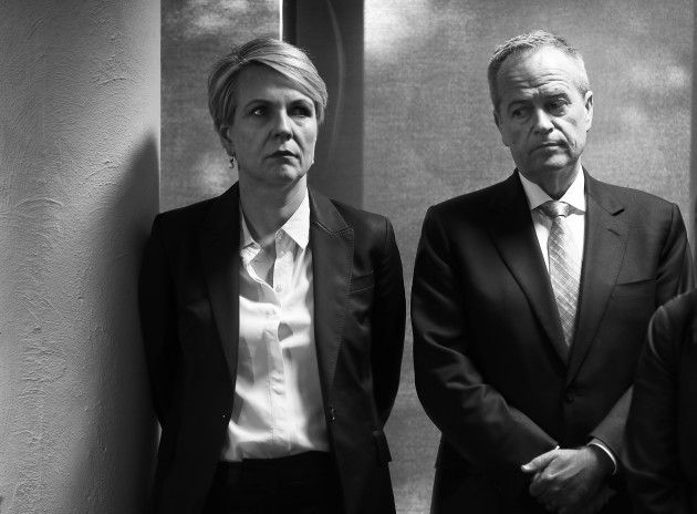 © Ryan Pierse. The Unlosable Election. Deputy Labor Leader Tanya Plibersek and Labor Leader Bill Shorten look on during a press conference at University of Tasmania Rural Clinical School in the seat of Braddon on May 14, 2019 in Burnie, Australia.