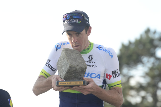 Mathew Hayman is only the second Australian to win the Paris-Roubaix after Stuart O'Grady of Team CSC won back in 2007. Photo by Sirotti