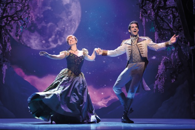 6-Patti Murin (Anna) and John Riddle (Hans) in FROZEN on Broadway. Photo by Deen van Meer copy
