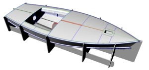 The Dan Leech designed CNC cut OK Dinghy.
