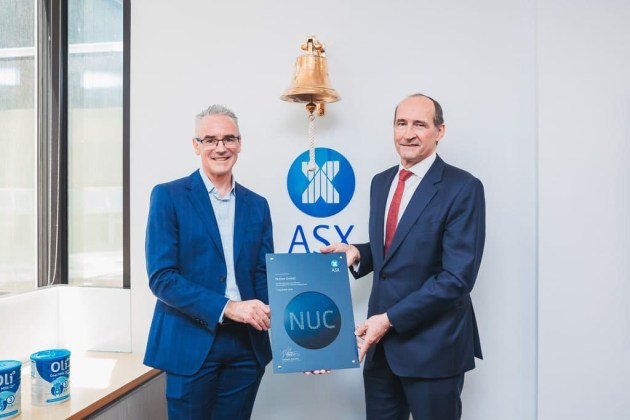 Nuchev CEO Ben Dingle and chair Justin Breheny.