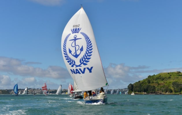 The Navy yacht which is taking part in the Coastal Classic. Photo PIC Coastal Classic.