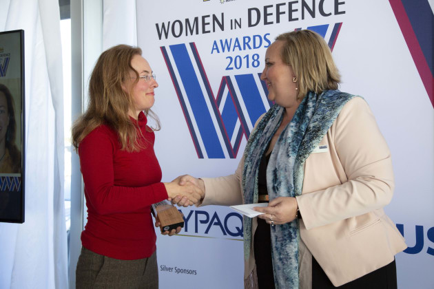 Dr Christine Shanahan, Engineering winner, with SYPAQ CEO Amanda Holt.