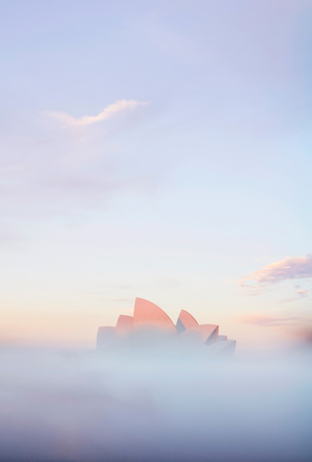 #9 Negative Space: Sydney, Australia. The Sydney Opera House is one of those iconic subjects that can be photographed a million times and always look a little different. Here I've used my iPhone as a reflective surface to reflect the pastel dusk skies above and place them in the foreground to produce a foggy scene which acts as negative space around the subject. ISO 200 | f/2.8 | 1/320sec | Olympus OM-D E-M1 MkII + 12-40mm M.Zuiko PRO lens