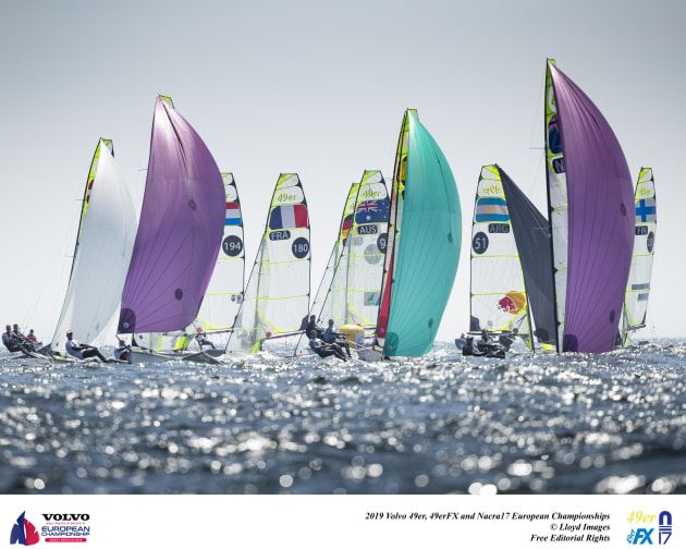 49er Europeans 2019. Photo Lloyd Images.