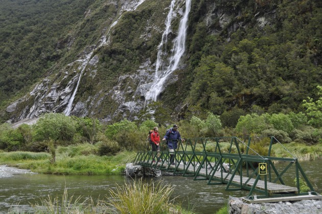 There are plenty of bridge crossings on the Milford Track.
