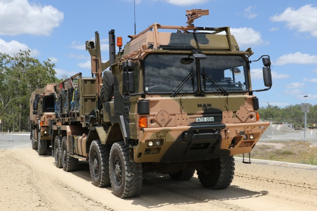 The new trucks are so large that Army now has to deal at working at height OH&S concerns.