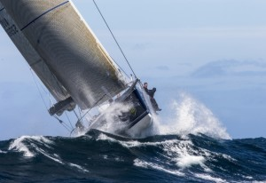 Black Jack, now named Alive and owned in Tasmania, competing in the 2012 Rolex Sydney Hobart. Photo Rolex/Carlo Borlenghi.