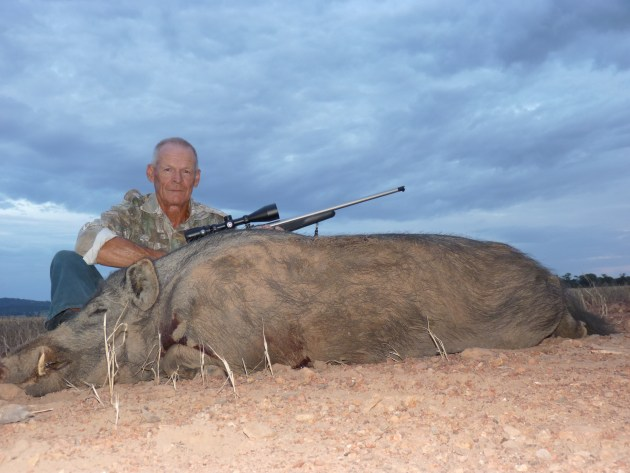 Allan Green - big hooky boar off stubble 2
