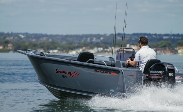 The Sniper Pro offers impressive performance with its 60hp Mercury four-stroke.