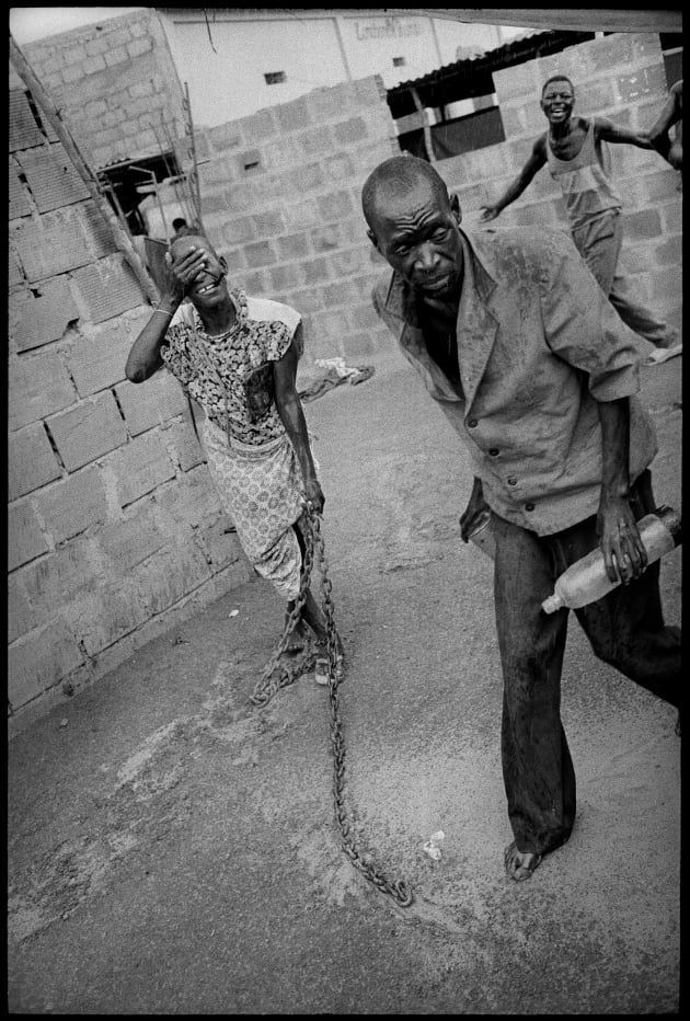 Patients at Papa Kitoko's mental asylum in Luanda. Angola, 1993.