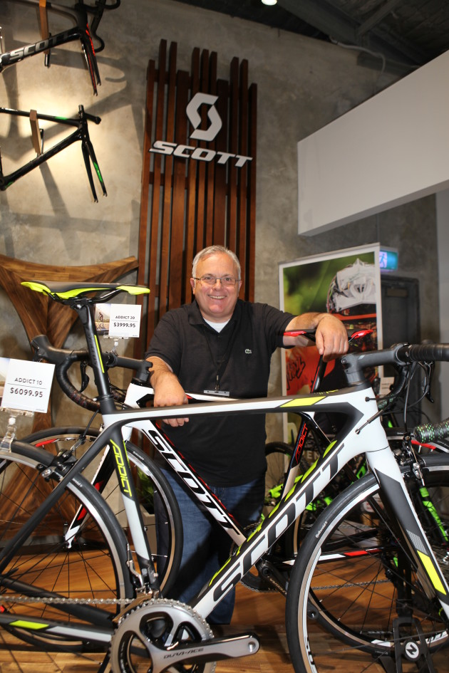 ... Scott Sports SA global CEO Beat Zaugg made the long trip from  Switzerland to Australia ... 069017d3e
