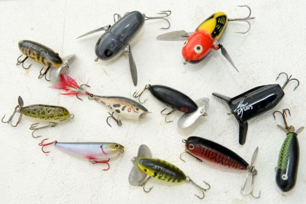 A selection of old and new surface lures that all work well on bass.