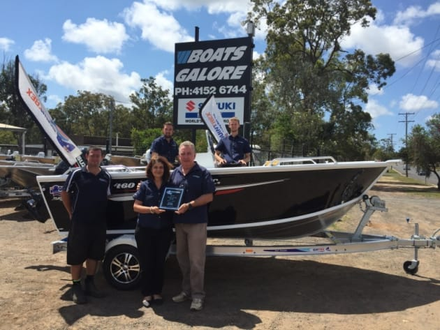 The winning sales team at Boats Galore.