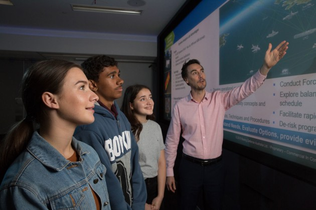 CSIRO ASSET Students in the Boeing Systems Analysis Laboratory Brisbane.
