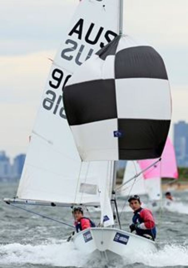 Geelong siblings dominating cadet worlds in uk mysailing thomas and sophie alexander from royal geelong yacht club photo international cadet class stopboris Choice Image