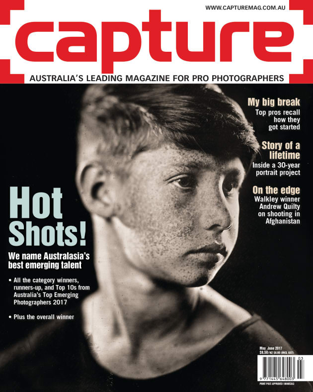 Capture May/June 2017 cover. Image by Paul Alsop. Australia's Top Emerging Photographers 2017 (Overall winner and Portrait category winner).