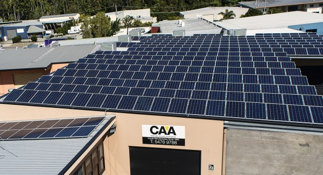 CAA's 320 panel solar array consistently achieves energy savings of between 25% and 30%.
