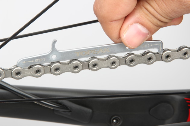 Monitor your drivetrain wear with a chain checker. A worn chain can lead to poor shifting performance and general roughness and inefficiency. If it gets really bad it may fail completely under load, pitching you over the front! Replacing the chain before wear becomes excessive will also extend the life of your cassette and chainrings—items that cost a lot more than the chain.
