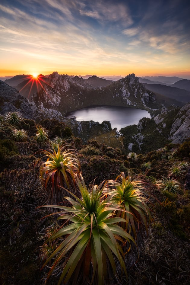 Chris Wiewiora's image of Lake Oberon in Tasmania's Wester Arthurs ranges graced the cover of our March issue. He spent five days trekking up and down the mountain to get the shot. © Chris Wiewiora