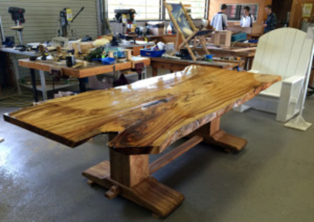 12-Seater Camphor Laurel Trestle Table