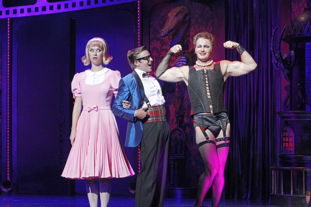 Craig McLachlan with 2014 cast members. Photo: JEFF BUSBY.