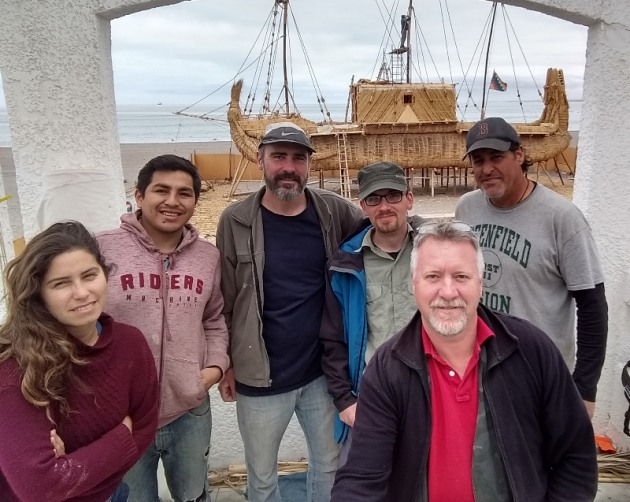 Crew of Viracocha III, Buck is pictured back right. Photo Glen David Short.