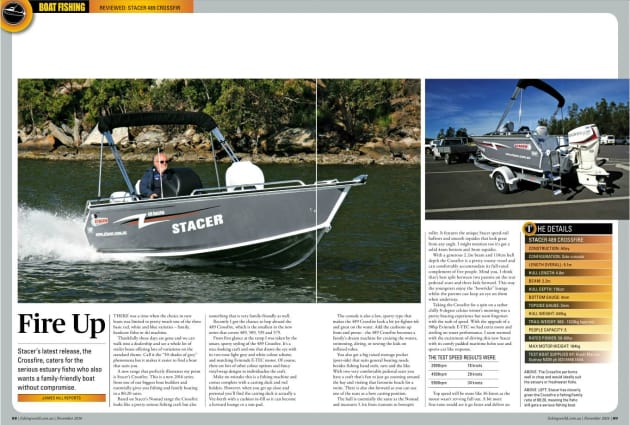 Stacer's latest release, the Crossfire, caters for the serious estuary fisho who also wants a family-friendly boat without compromise. Image: James Hill